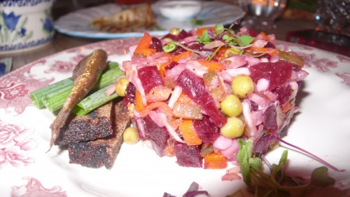 Vinegret beet salad