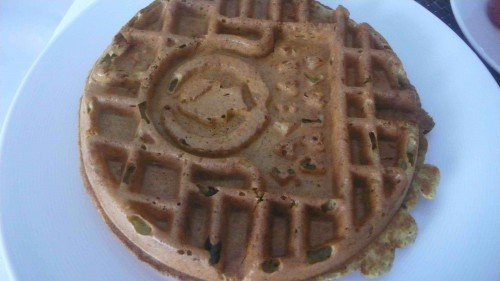 green tea waffles