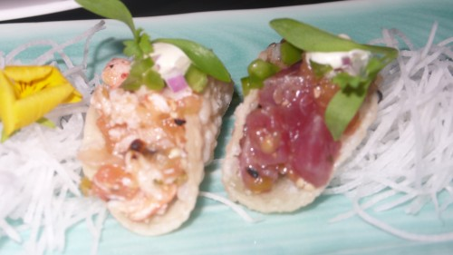 lobster and tuna tacos