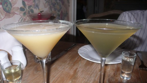 nectarine, pear infused vodka drinks