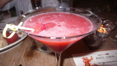 strawberry infused vodka drink