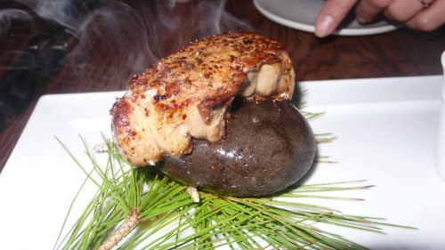 stone seared foie gras