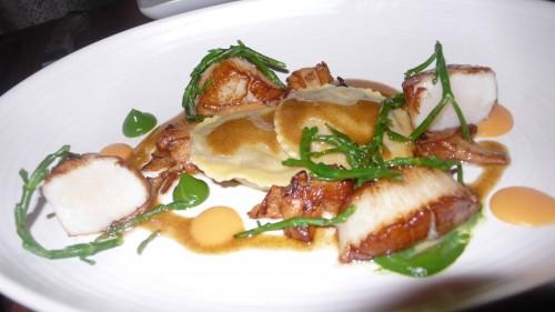 scallops and short rib ravioli