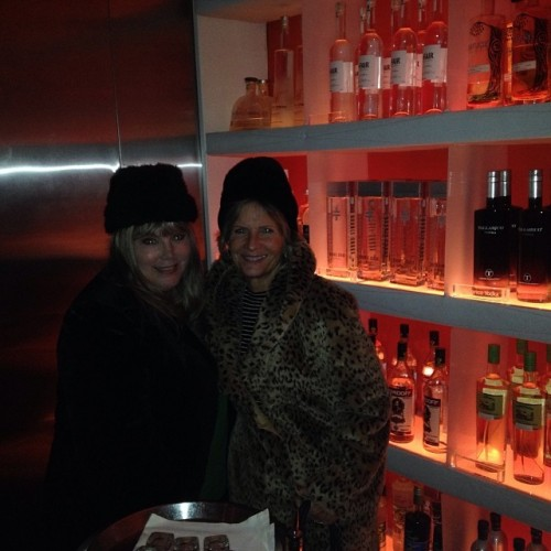 Janie and I in the VODBOX